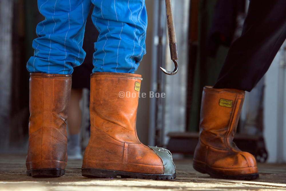 heavy work boots of Tuna fish transporters