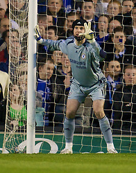 LIVERPOOL, ENGLAND - Thursday, April 17, 2008: Chelsea's goalkeeper Petr Cech during the Premiership match at Goodison Park. (Photo by David Rawcliffe/Propaganda)