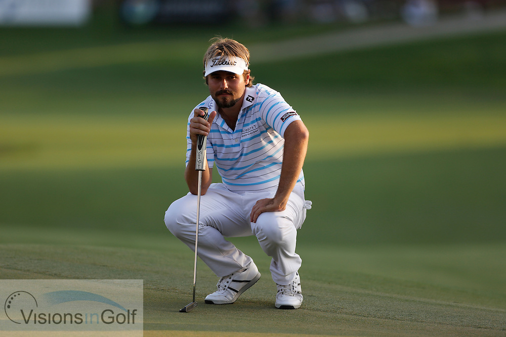 Victor DUBUISSON<br /> during the third round of the Race To Dubai DP World Tour Golf Championship, Dubai, UAE November  2013<br /> Picture Credit:  Mark Newcombe / www.visionsingolf.com