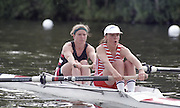 "Henley on Thames. Henley. GREAT BRITAIN;  GBR LW2-, Bow Alison BROWNLESS , Jane HALL<br /> <br /> 1995 Women's Henley Regatta. Henley Reach. River Thames.<br /> <br /> [Mandatory Credit; ""Photo, Peter Spurrier/Intersport-images]"