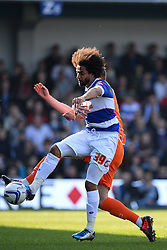 \QPR's defender Benoît Assou-Ekotto  - Photo mandatory by-line: Mitchell Gunn/JMP - Tel: Mobile: 07966 386802 29/03/2014 - SPORT - FOOTBALL - Loftus Road - London - Queens Park Rangers v Blackpool - Championship