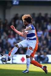 \QPR's defender Benoît Assou-Ekotto  - Photo mandatory by-line: Mitchell Gunn/JMP - Tel: Mobile: 07966 386802 29/03/2014 - SPORT - FOOTBALL - Loftus Road - London - Queens Park Rangers v Blackpool - Championship