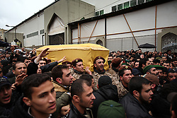 Members of Hezbollah's elite military wing, the Islamic Resistance of Lebanon, carry the coffin of slain militant commander Imad Mugniyeh in Beirut, Lebanon on Feb. 14, 2008. Imad Mugniyeh was killed in a mysterious car bombing in Damascus, Syria. Mugniyeh a.k.a. Hajj Radwan, was among the most feared terror operatives in the world. The Islamic Resistance of Lebanon rarely makes public appearances.