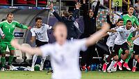 Fussball  International U 21 Europameisterschaft 2017 in Krakau 30.06.2017 Finale Deutschland - Spanien JUBEL Deutschland; Torwart Marvin Schwaebe, Thilo Kehrer und Serge Gnabry (v.li.)