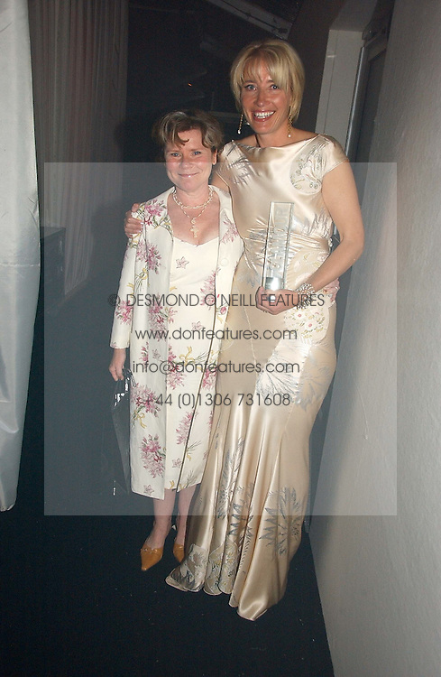 Left to right, IMELDA STAUNTON and EMMA THOMPSON at the 2006 Glamour Women of the Year Awards 2006 held in Berkeley Square Gardens, London W1 on 6th June 2006.<br />