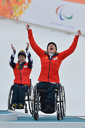 Women's Giant Slalom Medal Ceremony at the 2014 Sochi Winter Paralympic Games, Russia