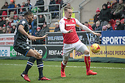 Danny Ward (Rotherham United) runs with the ball during the EFL Sky Bet Championship match between Rotherham United and Blackburn Rovers at the AESSEAL New York Stadium, Rotherham, England on 11 February 2017. Photo by Mark P Doherty.