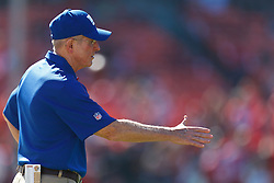 SAN FRANCISCO, CA - OCTOBER 14: Head coach Tom Coughlin of the New York Giants during warm ups before the game against the San Francisco 49ers at Candlestick Park on October 14, 2012 in San Francisco, California. The New York Giants defeated the San Francisco 49ers 26-3. Photo by Jason O. Watson/Getty Images) *** Local Caption *** Tom Coughlin
