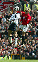 Liverpool's Stephen Gerrard and Manchester United's David Beckham during the Premiership match at Old Trafford, Manchester, Saturday, March 5th, 2003.<br /><br />Pic by David Rawcliffe/Propaganda<br /><br />Any problems call David Rawcliffe +44(0)7973 14 2020 david@propaganda-photo.com http://www.propaganda-photo.com