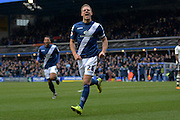 Birmingham City defender Michael Morrison celebrates goal during the Sky Bet Championship match between Birmingham City and Fulham at St Andrews, Birmingham, England on 19 March 2016. Photo by Alan Franklin.