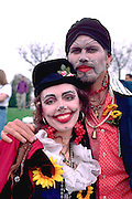 Man and woman age 26 at the Heart of the Beast May Day Festival.  Minneapolis  Minnesota USA