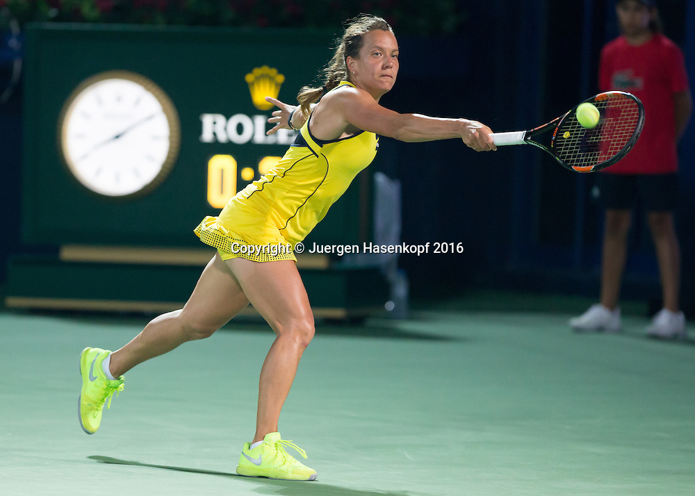 Barbora Strycova (CZE)<br /> <br /> Tennis - Dubai Tennis Championships 2016 -  WTA -  Dubai Duty Free Tennis Stadium - Dubai  -  - United Arab Emirates  - 19 February 2016.