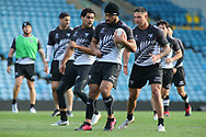 Isaac Liu (C) during the New Zealand Rugby League captain's run ahead of the 3rd Autumn International Series Match at Elland Road, Leeds.<br /> Picture by Stephen Gaunt/Focus Images Ltd +447904 833202<br /> 10/11/2018