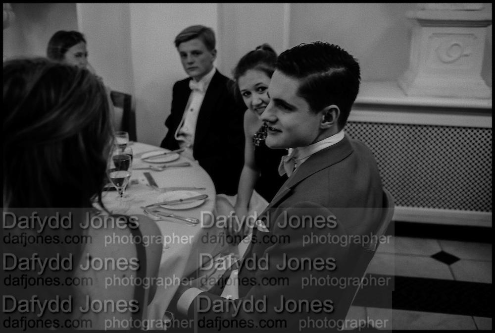 GEORGE PEARSON; ELISABETH NEUBERT; VERE HARMSWORTH; CHARLOTTE HYMAN, Oxford University Polo club Ball, Blenheim Palace. Woodstock. 6 March 2015