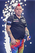 Peter Wright wins his semi final match against Gerwyn Price during the PDC William Hill World Darts Championship Semi-Final at Alexandra Palace, London, United Kingdom on 30 December 2019.