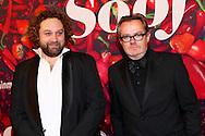 AMSTERDAM - De premiere van de Nederlandse speelfilm Soof. Met hier op de rode loper Regisseur Miron Bilski (l) en toneelacteur George van Houts (r). FOTO LEVIN DEN BOER - PERSFOTO.NU