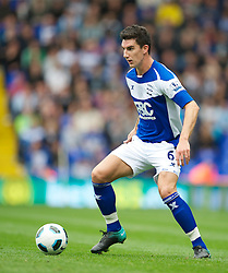 BIRMINGHAM, ENGLAND - Saturday, October 2, 2010: Birmingham City's Liam Ridgewell in action against Everton during the Premiership match at St Andrews. (Photo by David Rawcliffe/Propaganda)