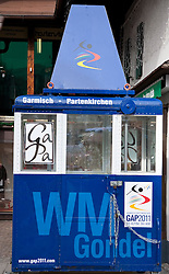 04.02.2011, Garmisch Partenkirchen, GER, FIS Alpine World Championships Garmisch Partenkirchen, Vorberichte, im Bild Preview images for the 2011 Alpine skiing World Championships. One of the original gondolas from the area now being used as an information point in the town, EXPA Pictures © 2011, PhotoCredit: EXPA/ M. Gunn