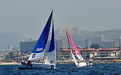 Bruni and Gilmour in the quarter finals. Photo: Chris Davies/WMRT