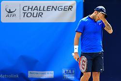 Dan Evans of Great Britain looks dejected  - Mandatory by-line: Matt McNulty/JMP - 31/05/2016 - TENNIS - Northern Tennis Club - Manchester, United Kingdom - AEGON Manchester Trophy