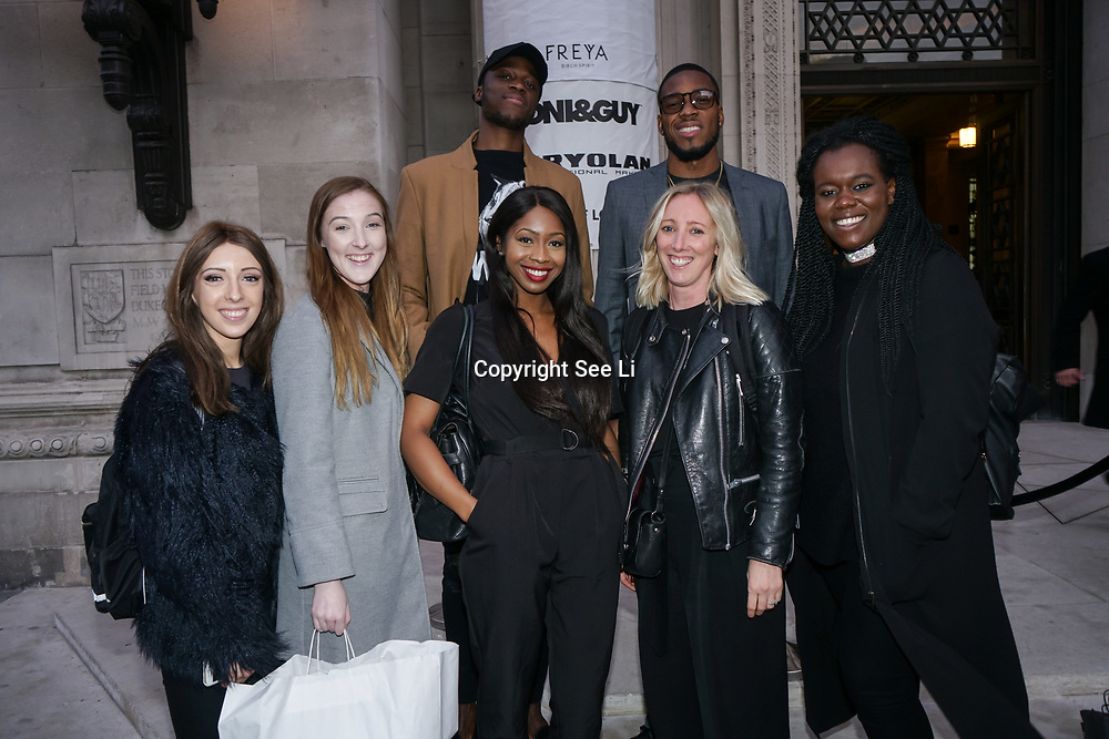 London, England, UK. 17th September 2017.Athlete Nethaneel Mitchell Blake a Sprinter,Chris Kandu a Jumper and HPR Agency teams attends FASHION SCOUT SS18 Day 3 at Freemasons Hall.