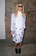 Kesha poses backstage at Christian Siriano during the Mercedes-Benz Fall/Winter 2015 shows at Artbeam in New York City, New York on February 14, 2015.