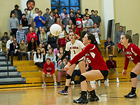 St Paul's School varsity and junior varsity volleyball with Andover.   ©2017 Karen Bobotas Photographer