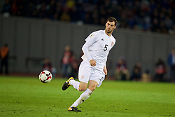 TBILSI, GEORGIA - Friday, October 6, 2017: Georgia's Solomon Kverkvelia during the 2018 FIFA World Cup Qualifying Group D match between Georgia and Wales at the Boris Paichadze Dinamo Arena. (Pic by David Rawcliffe/Propaganda)