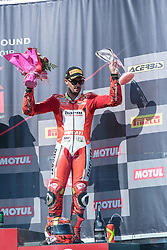 September 29, 2018 - 12, Xavi Fores, ESP, Ducati Panigale R, Barni Racing Team, SBK 2018, MOTO - SBK Magny-Cours Grand Prix 2018, Race 1, 2018, Circuit de Nevers Magny-Cours, Acerbis French Round, France ,September 29 2018, action during the SBK Race 1 of the Acerbis French Round on September 29 2018 at Circuit de Nevers Magny-Cours, France (Credit Image: © AFP7 via ZUMA Wire)