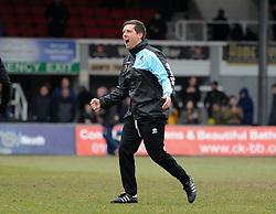 Bristol Rovers Manager Darrell Clarke celebrates at full time. - Mandatory byline: Alex James/JMP - 19/03/2016 - FOOTBALL - Rodney Parade - Newport, England - Newport County v Bristol Rovers - Sky Bet League Two