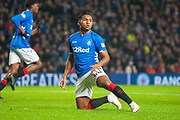 Alfredo Morelos (#20) of Rangers FC during the Ladbrokes Scottish Premiership match between Rangers and Aberdeen at Ibrox, Glasgow, Scotland on 5 December 2018.