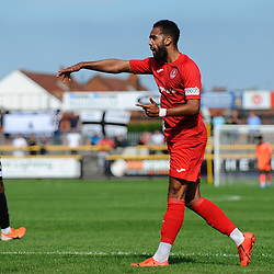 TELFORD COPYRIGHT MIKE SHERIDAN Brendon Daniels of Telford during the National League North fixture between Southport and AFC Telford United at Haig Avenue on Saturday, August 24, 2019<br /> <br /> Picture credit: Mike Sheridan<br /> <br /> MS201920-005