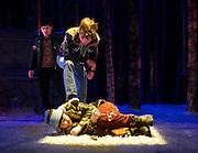 Let the right one in <br /> by Jack Thorne<br /> at the Royal Court Theatre, London, Great Britain <br /> press photocall <br /> 4th December 2013 <br /> <br /> Rebecca Benson as Eli<br /> Graeme Dalling as Jonny <br /> Paul Thomas Hickey as as Kurt <br /> Stephen McCole<br /> Halmberg<br /> Angus Miller as Torkel<br /> Cristian Ortega as Micke<br /> Martin Quinn as Oskar <br /> Ewan Stewart as Hakan <br /> Susan Vidler as Oskar's Mum <br /> <br /> directed by John Tiffany <br /> <br /> Photograph by Elliott Franks