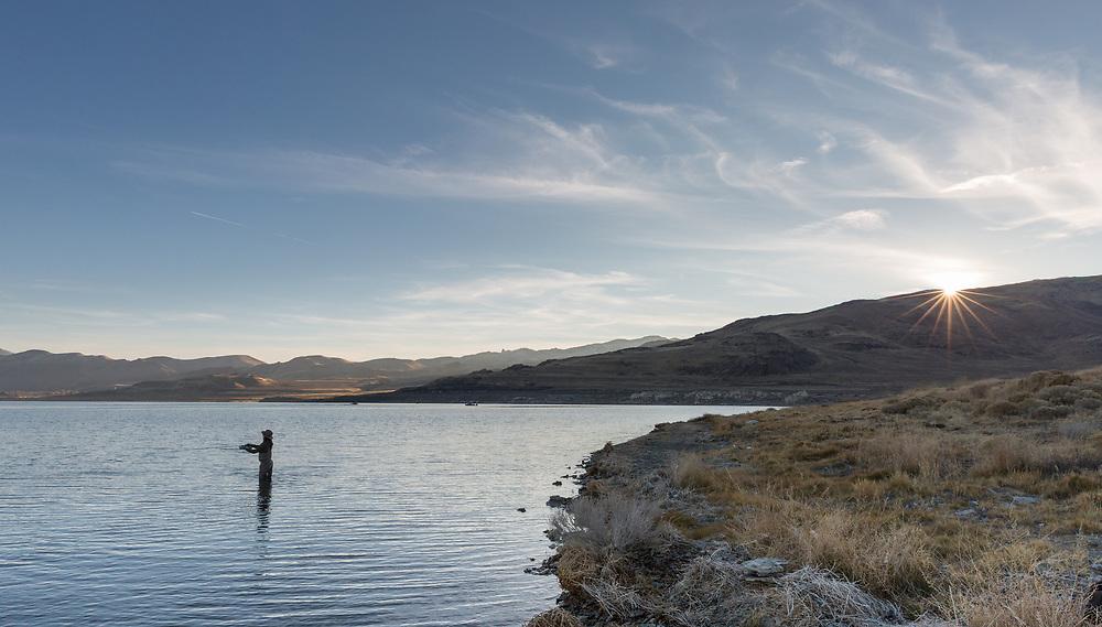 Chelsea Baum (@CherokeeFlyFisher).  Pyramid Lake.  Nevada.