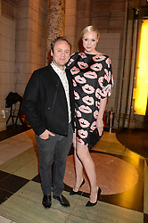 NICHOLAS KIRKWOOD and GWENDOLINE CHRISTIE at the WGSN Global Fashion Awards held at the V&A museum, London on 30th October 2013.