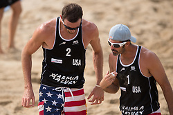 04.07.2013, Lake Szelag, Stare Jablonki, POL, FIVB Beach Volleyball Weltmeisterschaft, im Bild Ryan Doherty (USA), Todd Rogers (USA), // during the FIVB Beach Volleyball World Championships at the Lake Szelag, Stare Jablonki, Poland on 2013/07/04. EXPA Pictures © 2013, PhotoCredit: EXPA/ Eibner/ Kurth ***** ATTENTION - OUT OF GER *****