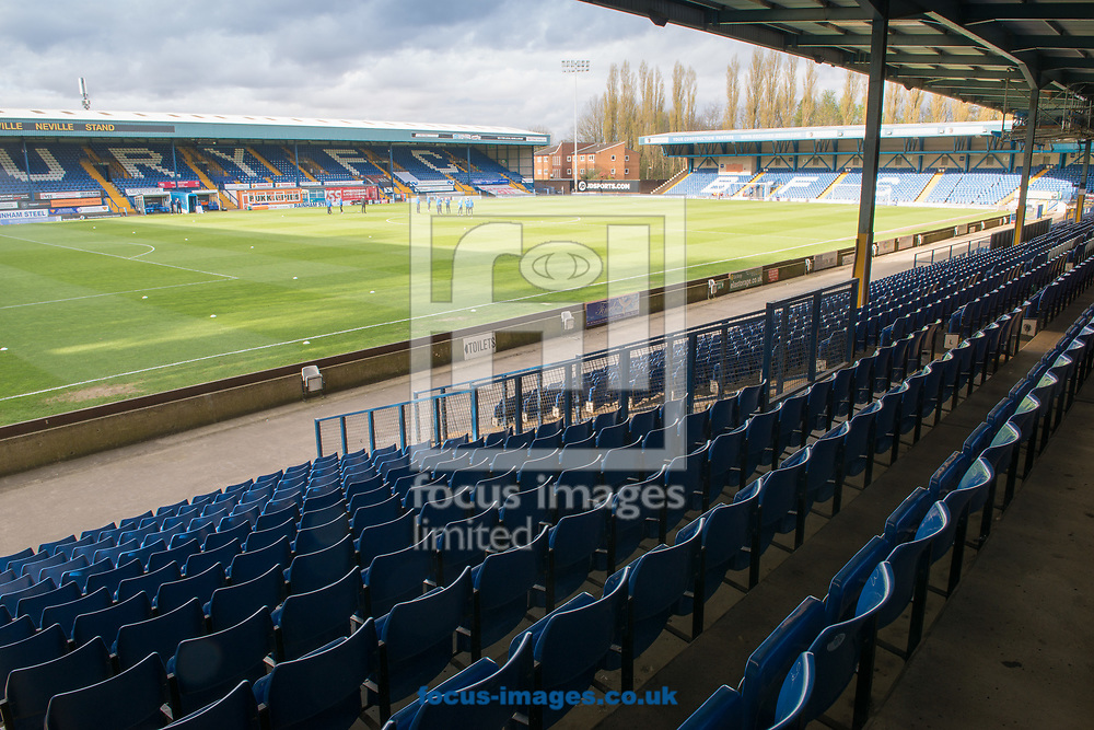 A general view of Gigg Lane, Bury ahead of the Sky Bet League 1 between Bury and Rochdale<br /> Picture by Matt Wilkinson/Focus Images Ltd 07814 960751<br /> 13/04/2017