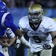Salesianum running back Troy Reeder (9) lead block for quarterback Matt Sgro (3) in the third quarter of the DIAA State Championship football game against Middletown Saturday, Nov. 30 2013, at Delaware Stadium in Newark Delaware.
