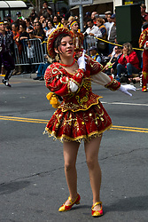 California: San Francisco Carnaval festival parade in the Mission District. Photo copyright Lee Foster. Photo # 30-casanf81365