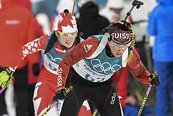 February 11, 2018 - Pyeongchang, GANGWON, SOUTH KOREA - Feb 10, 2018-Pyeongchang, South Korea-Lena HAECKI of Switzerland action on the snow during an Olympic Biathlon Women Sprint 7.5Km at Biathlon Center in Pyeongchang, South Korea. (Credit Image: © Gmc via ZUMA Wire)