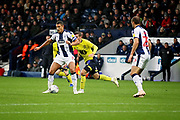 West Bromwich Albion midfielder Jake Livermore (8)  during the EFL Sky Bet Championship match between West Bromwich Albion and Blackburn Rovers at The Hawthorns, West Bromwich, England on 27 October 2018.