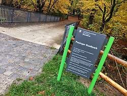 November 2, 2018 - Munich, Bavaria, Germany - The entrance to the Pasinger Stadtpark (Pasing City Park) in western Munich.  A politically motivated attack of a female from the left-wing spectrum took place here.  The victim heard ''schiess Antifa'' and then was subsequently beaten.  Police continue to investigate. (Credit Image: © Sachelle Babbar/ZUMA Wire)