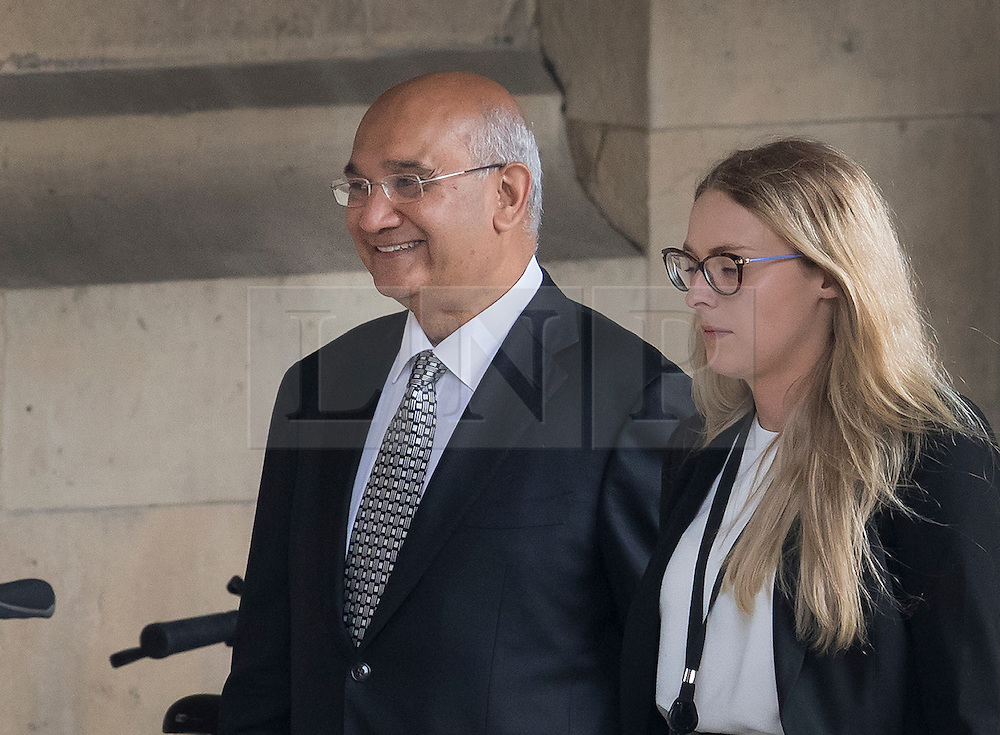 © Licensed to London News Pictures. 04509/2016. London, UK. A smiling Keith Vaz MP is seen in Parliament on the first day back for MP's after the summer break..  A Sunday newspaper has printed allegations that Mr Vaz met with male prostitutes at his flat.  He has stood down from the chairmanship of the Home Affairs Select Committee. Photo credit: Peter Macdiarmid/LNP
