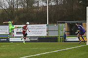 Forest Green Rovers Omar Bugiel(11) shoots at goal scores a goal 3-2 during the Vanarama National League match between Forest Green Rovers and Woking at the New Lawn, Forest Green, United Kingdom on 25 February 2017. Photo by Shane Healey.