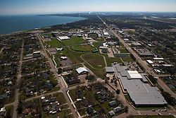 La Porte Texas from a helo