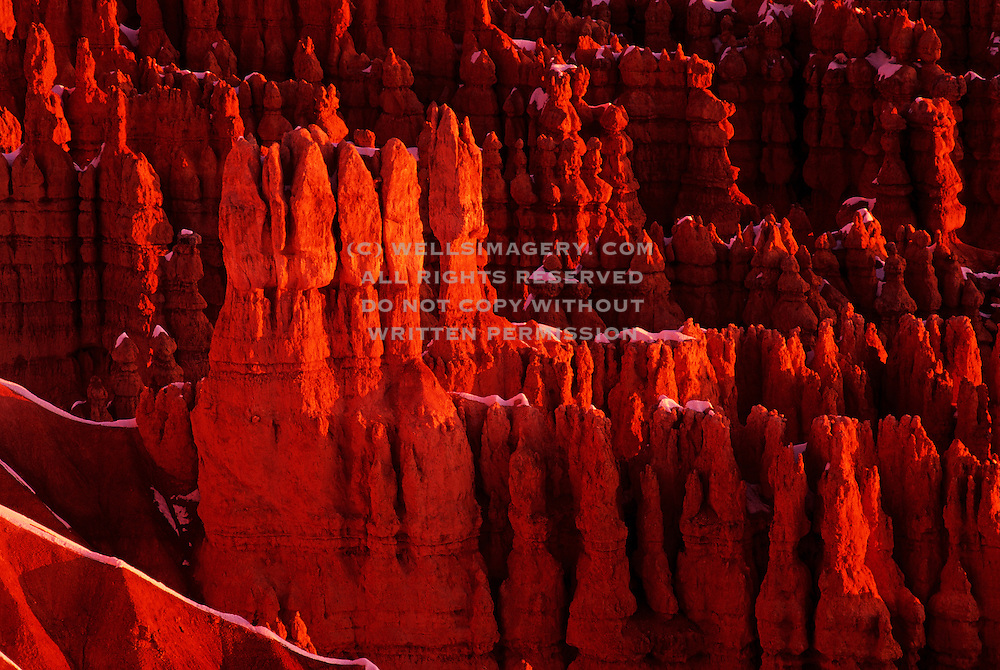 Image of Bryce Canyon National Park, Utah, American Southwest, Rock formation called Wall Street. .