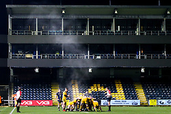 Steam rises from a scrum between Worcester Cavaliers and Wasps A - Mandatory by-line: Robbie Stephenson/JMP - 16/12/2019 - RUGBY - Sixways Stadium - Worcester, England - Worcester Cavaliers v Wasps A - Premiership Rugby Shield
