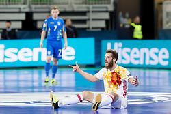 Pola of Spain during futsal quarterfinal match between National teams of Ukraine and Spain at Day 8 of UEFA Futsal EURO 2018, on February 6, 2018 in Arena Stozice, Ljubljana, Slovenia. Photo by Urban Urbanc / Sportida