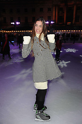 AMBER LE BON at a Winter Party given by Tiffany & Co. Europe to launch the 10th season of Somerset House's Ice Skating Rink at Somerset House, The  Strand, London on 16th November 2009.