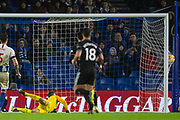GOAL Chris Wood (Burnley) scores a goal to keep Burnley in the lead 0-2 during the Premier League match between Brighton and Hove Albion and Burnley at the American Express Community Stadium, Brighton and Hove, England on 9 February 2019.